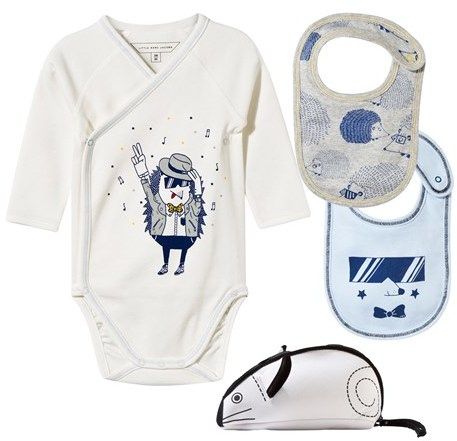 Little Marc JacobsLittle Marc Jacobs Set of 3 Hedgehog Print Body and Two Bibs