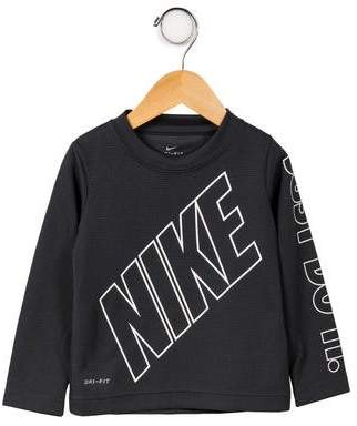 Nike Boys' Printed Long Sleeve Shirt