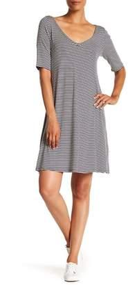 Como Vintage Stripe Lattice Back Dress