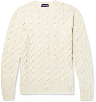 Mens Cream Cable Knit Sweater Shopstyle Canada