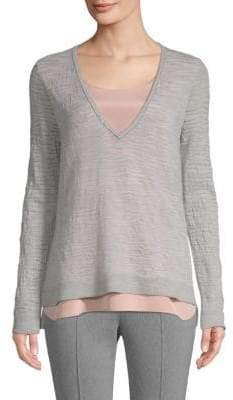 St. John Layered Sweater