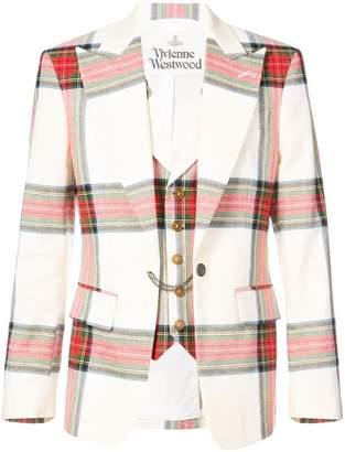 Vivienne Westwood tartan blazer with waistcoat
