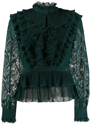 Just Cavalli ruffled trimmed blouse