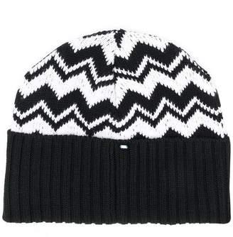 Sportmax Code contrast beanie hat
