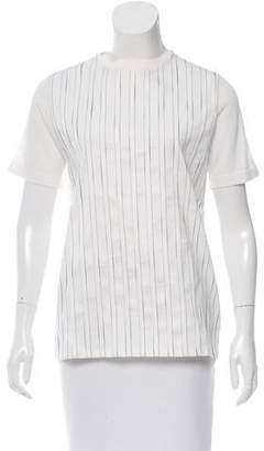 MAISON KITSUNÉ Striped Wool T-Shirt