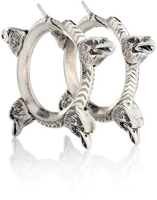 Gucci Anger Forest sterling silver hoop earrings
