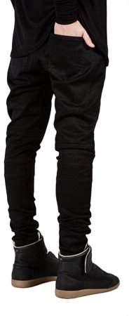 Betruststores Trendy Designed Straight Pants Casual Outddor Men Jeans Slim Elastic Denim Trousers Exquisite Male Pencil Pants