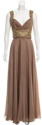 Carlos Miele Silk Evening Dress