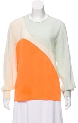 Stella McCartney Silk Colorblock Top
