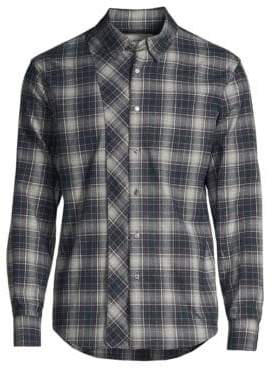 Solid Homme Multi-Plaid Button-Down Shirt