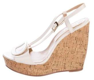 Roger Vivier Buckle-Accented Wedge Sandals
