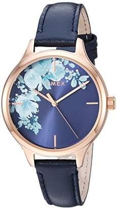 Timex Women's TW2R66700 Crystal Bloom Leather Strap Watch