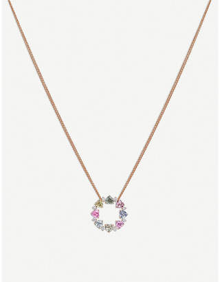 Rosegold BUCHERER JEWELLERY Pastello 18ct rose-gold, sapphire and diamond necklace