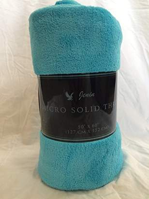 "Camilla And Marc Ultra Soft Cozy Plush Fleece Warm Solid Colors Traveling Throw Blanket 50"" X 60"" (127 Cm X 152 Cm) (Turquoise)"