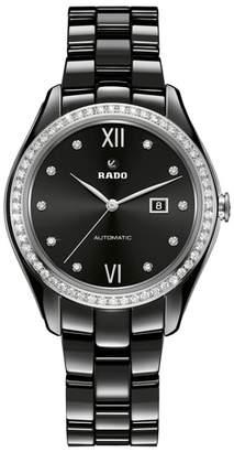 Rado HyperChrome Automatic Diamond Ceramic Bracelet Watch, 36mm