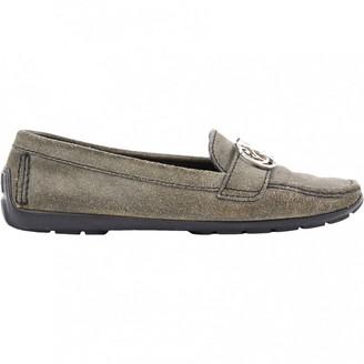 Louis Vuitton Grey Suede Flats