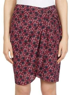 Isabel Marant Livia Printed Silk Skirt