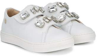 Miss Blumarine crystal embellished sneakers