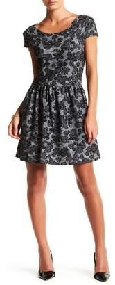Papillon Cap Sleeve Skater Dress