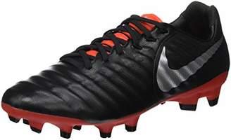 Nike Unisex Adults' Legend 7 Pro Fg Footbal Shoes, (Black/Metallic Silver/Lt Crimson 006)