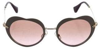 Miu Miu Heart Tinted Sunglasses