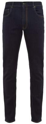 Slim Leg Stretch Denim Jeans - Mens - Navy