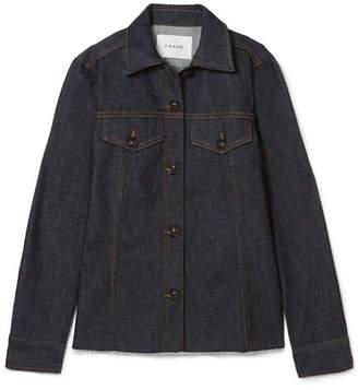 Frame Le Raw Frayed Denim Shirt - Indigo