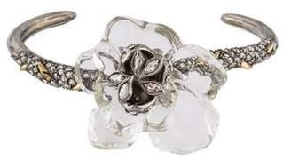 Alexis Bittar Crystal Floral Cuff