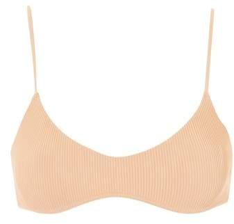 Rib Strap Crop Bikini Top