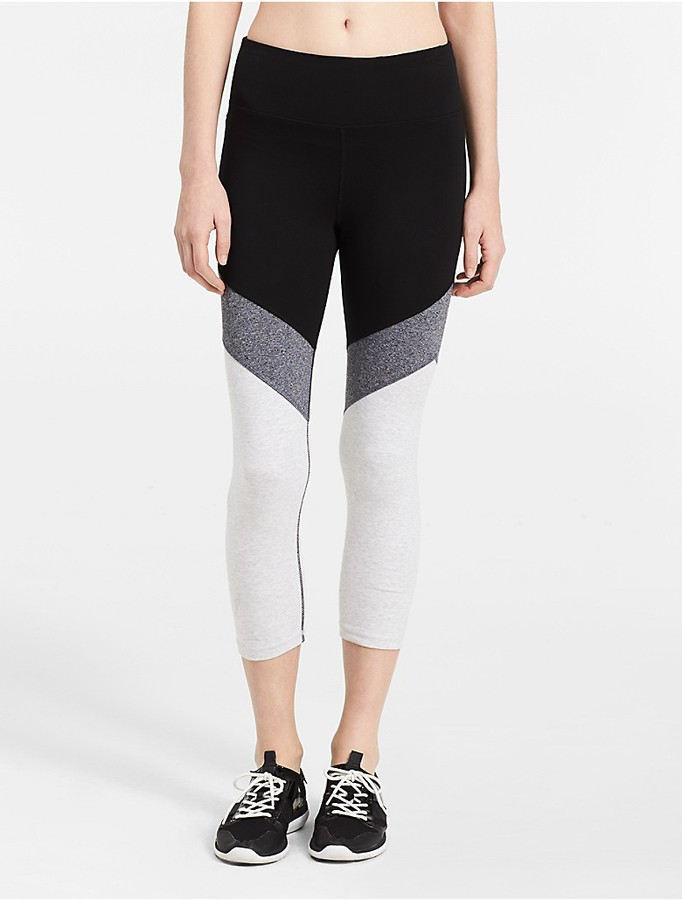 Performance Colorblock High Waist Cropped Leggings