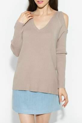 Sugar Lips Lune Cold Shoulder Sweater
