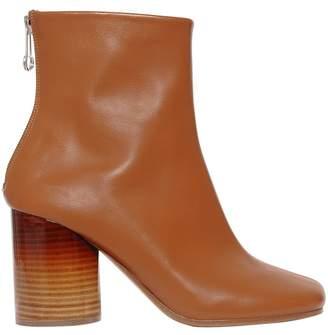 Maison Margiela 80mm Sock Brushed Leather Ankle Boots