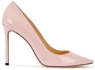 Jimmy Choo Romy 100 Rose Patent Leather Pumps