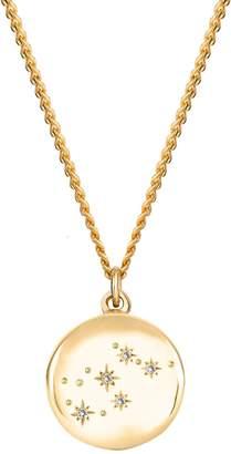 No 13 - Aquarius Zodiac Constellation Necklace Yellow Gold & Diamonds