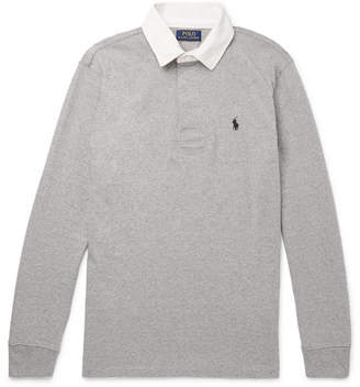 Polo Ralph Lauren Twill-Trimmed Cotton-Jersey Polo Shirt
