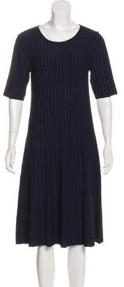 Armani Collezioni Cable Knit Midi Dress
