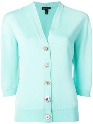 Escada mismatched button cardigan
