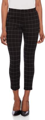 Kenneth Cole New York Black Windowpane Leggings
