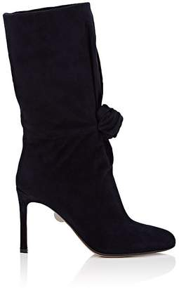 SAMUELE FAILLI Women's Betsy Knotted Suede Mid-Calf Boots