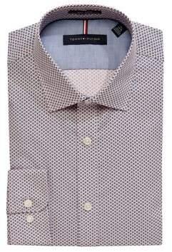 Tommy Hilfiger Slim-Fit Printed Non-Iron Dress Shirt