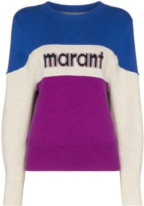 Etoile Isabel Marant Kedy colour-block logo jumper