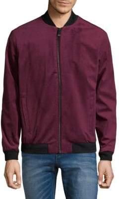 Calvin Klein Full-Zip Velvet Jacket