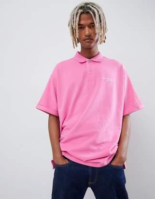 Calvin Klein relaxed logo print polo shirt