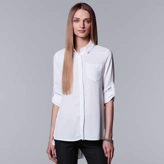 Vera Wang Women's Simply Vera High-Low Hem Chiffon Blouse