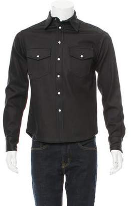 Maxwell Snow Coated Button-Up Shirt w/ Tags
