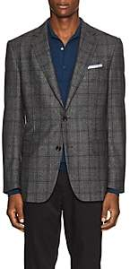 Pal Zileri MEN'S CHECKED WOOL TWO-BUTTON SPORTCOAT - GRAY SIZE 44 R