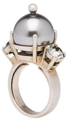 Miu Miu pearl and crystal ring