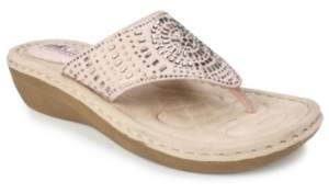 White Mountain Cliffs by Cienna Comfort Thong Sandals Women's Shoes