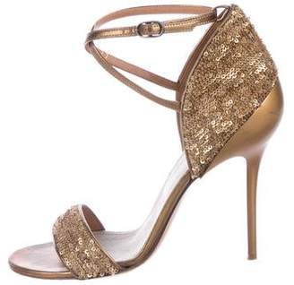 Maison Margiela Sequined Leather Sandals