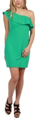 24/7 Comfort Apparel 24Seven Comfort Apparel Wendy One Shoulder Dress